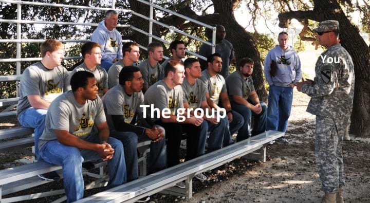'Spartans' conduct team-building event with Southwestern University football team